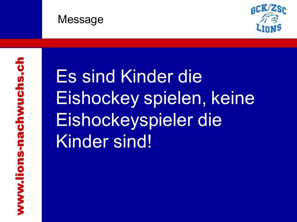 www.lions-nachwuchs.ch Message. Traktanden.