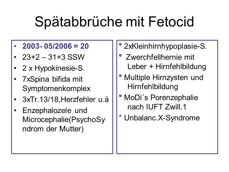 Spätabbrüche mit Fetocid