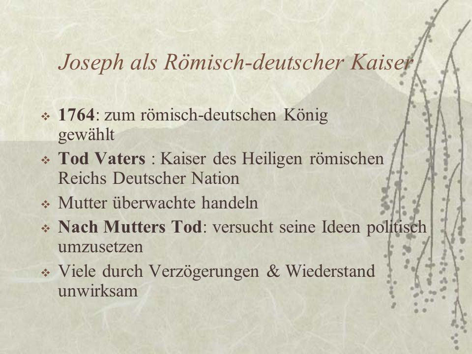 Joseph als Römisch-deutscher Kaiser