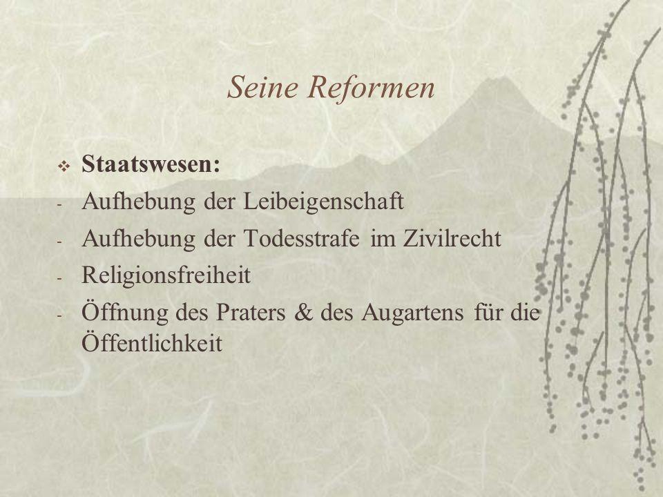 Seine Reformen Staatswesen: Aufhebung der Leibeigenschaft