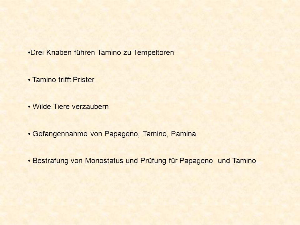 Drei Knaben führen Tamino zu Tempeltoren