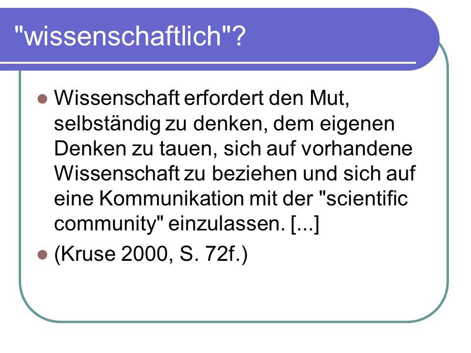 wissenschaftlich