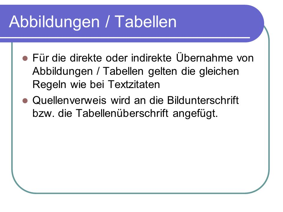 Abbildungen / Tabellen
