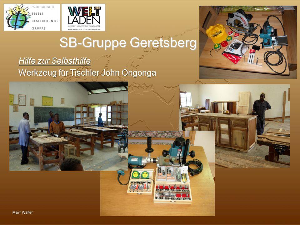 SB-Gruppe Geretsberg Hilfe zur Selbsthilfe