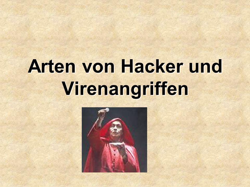 Arten von Hacker und Virenangriffen