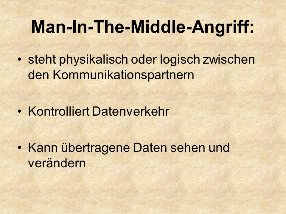 Man-In-The-Middle-Angriff:
