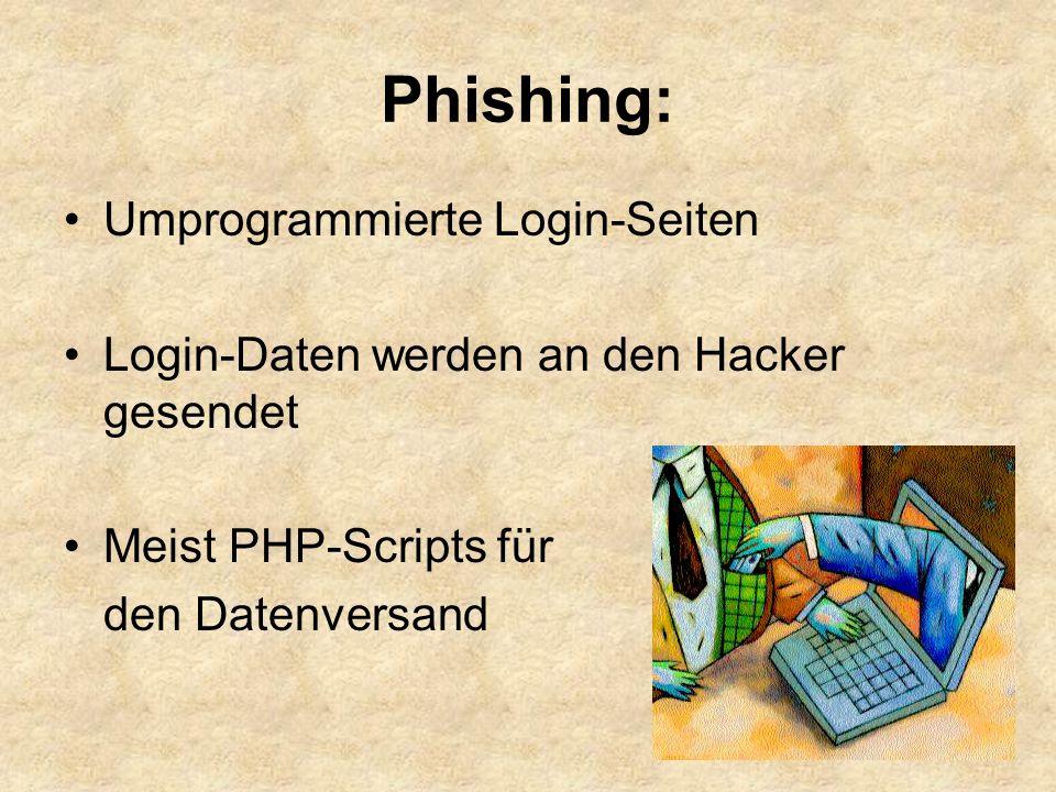 Phishing: Umprogrammierte Login-Seiten