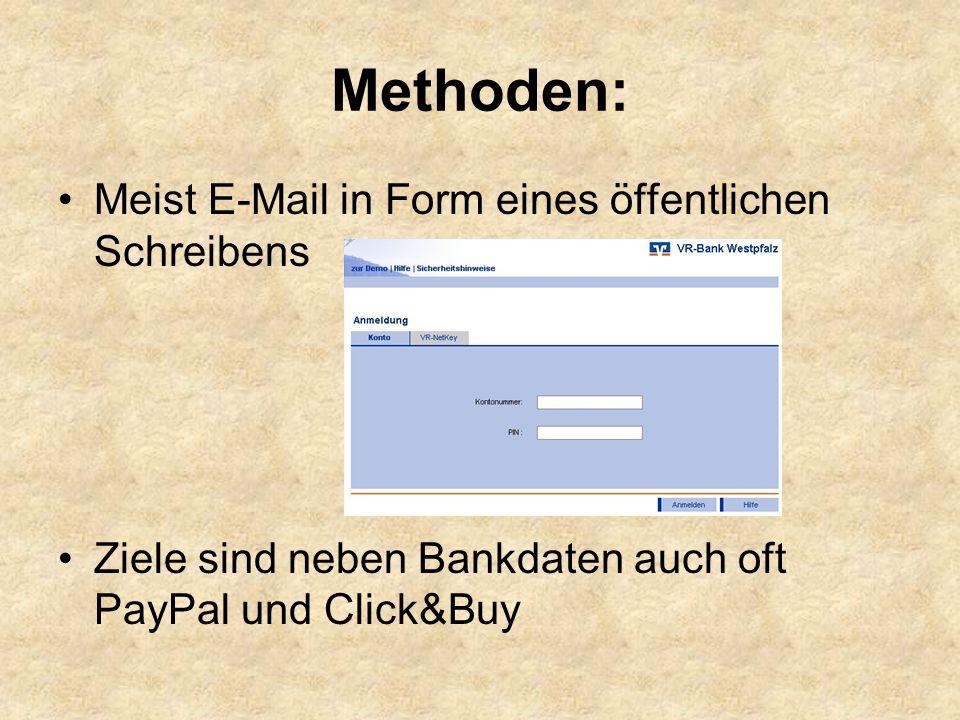 Methoden: Meist E-Mail in Form eines öffentlichen Schreibens