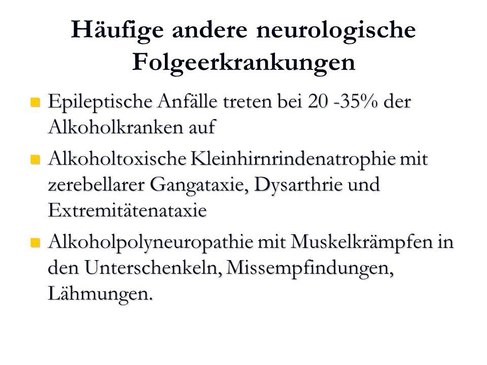 Häufige andere neurologische Folgeerkrankungen