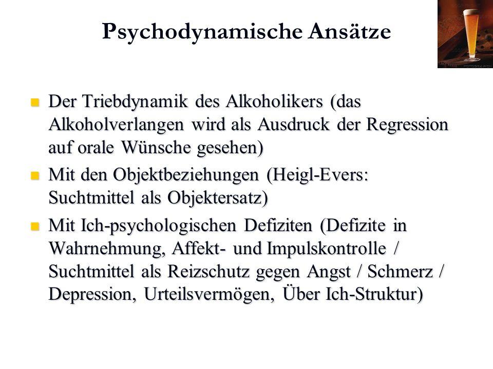 Psychodynamische Ansätze