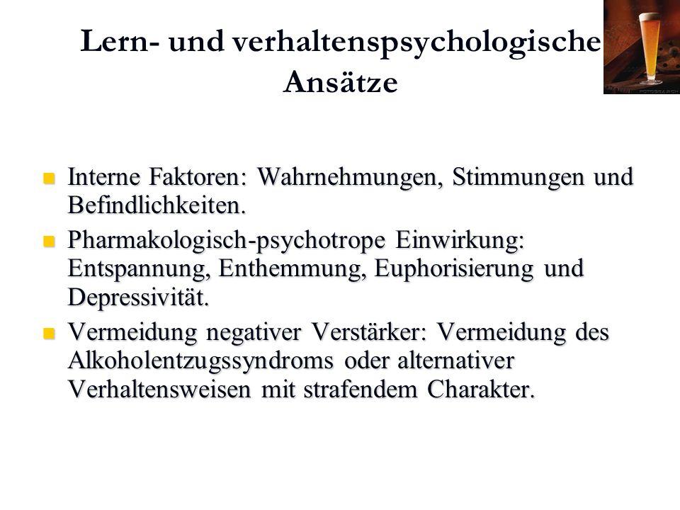 Lern- und verhaltenspsychologische Ansätze