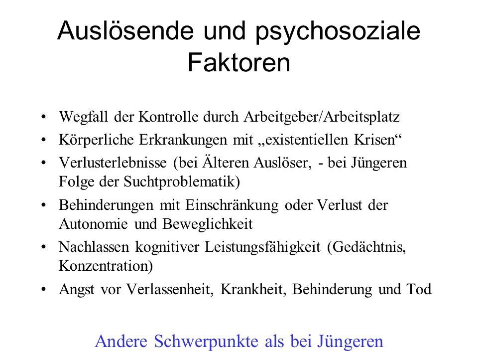 Auslösende und psychosoziale Faktoren