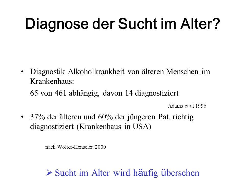 Diagnose der Sucht im Alter