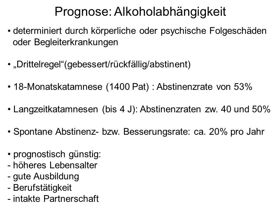 Prognose: Alkoholabhängigkeit