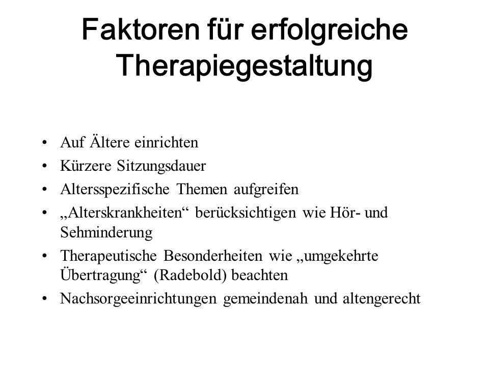 Faktoren für erfolgreiche Therapiegestaltung