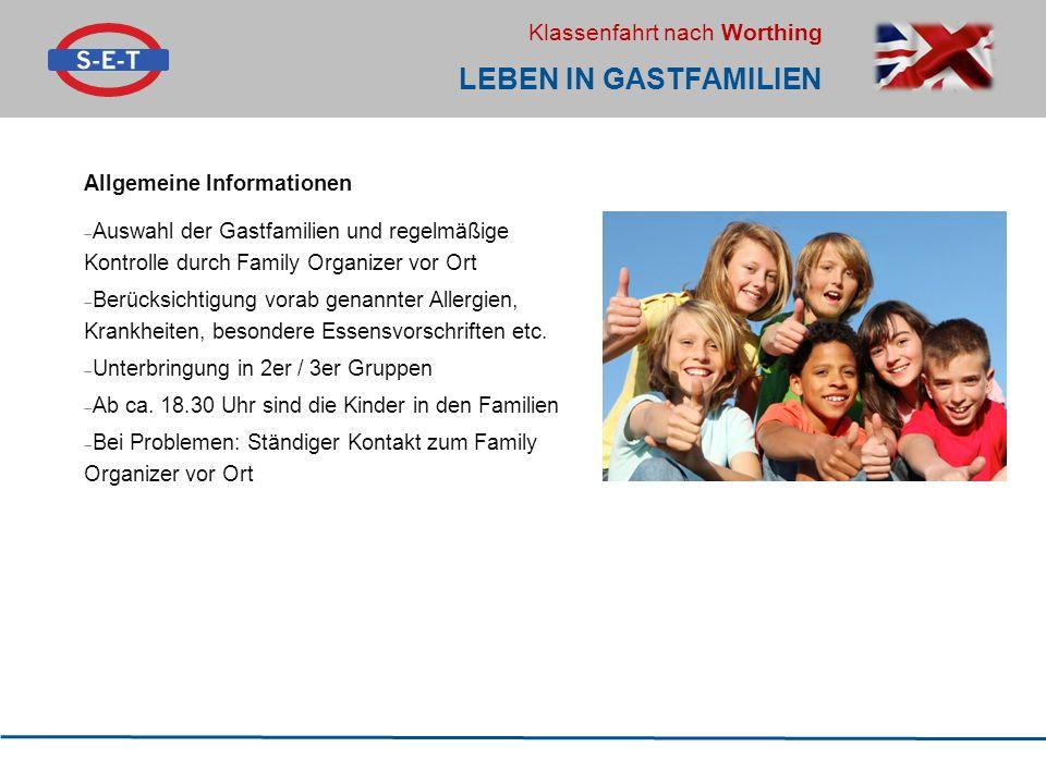 Leben in Gastfamilien Allgemeine Informationen