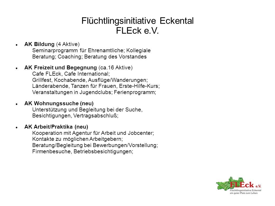 Flüchtlingsinitiative Eckental FLEck e.V.