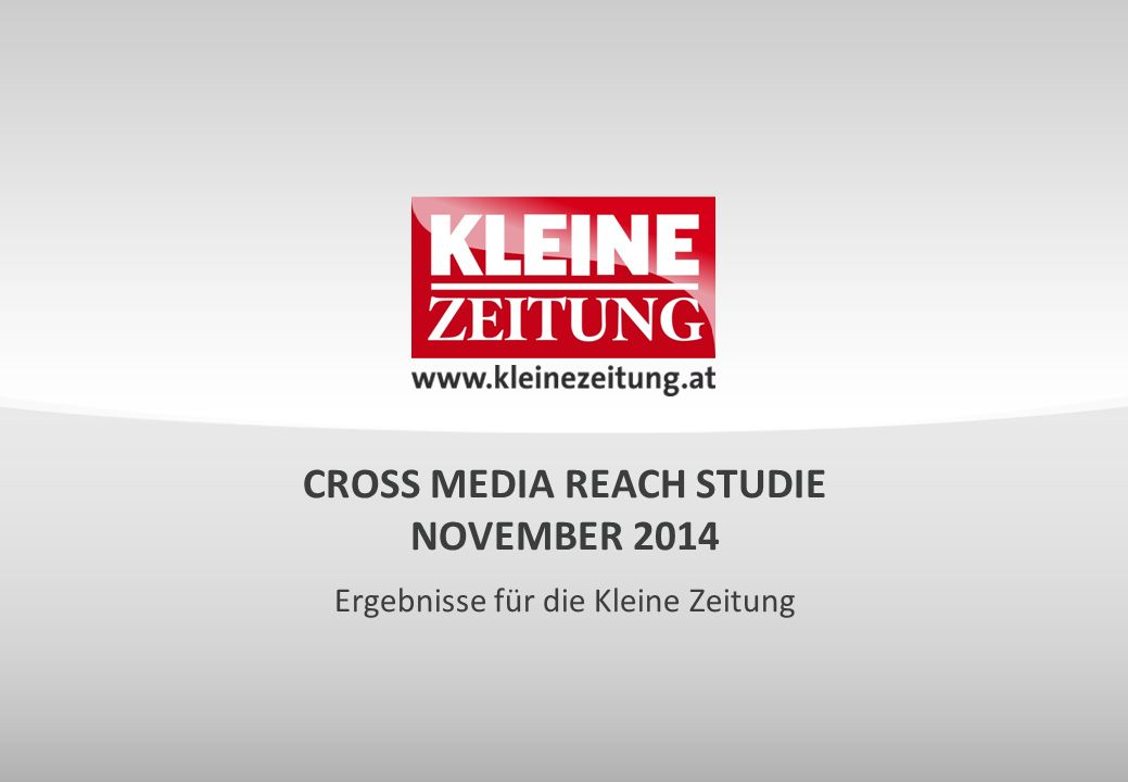 CROSS MEDIA REACH STUDIE NOVEMBER 2014