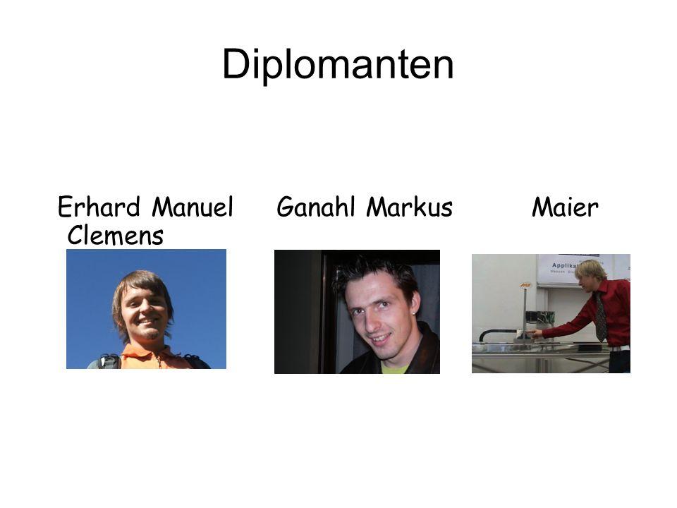 Diplomanten Erhard Manuel Ganahl Markus Maier Clemens