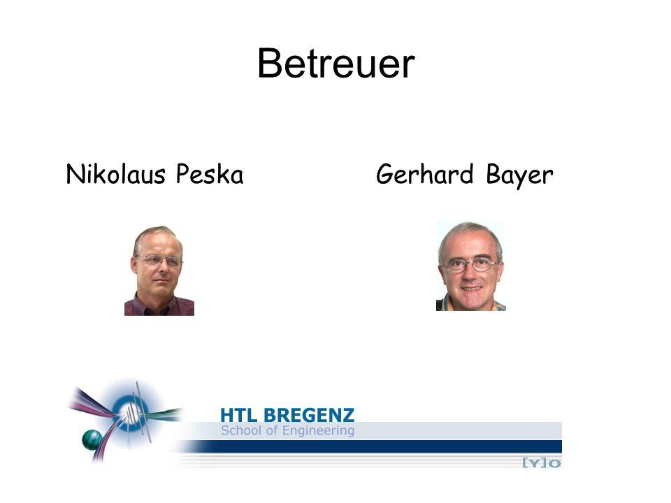 Betreuer Nikolaus Peska Gerhard Bayer