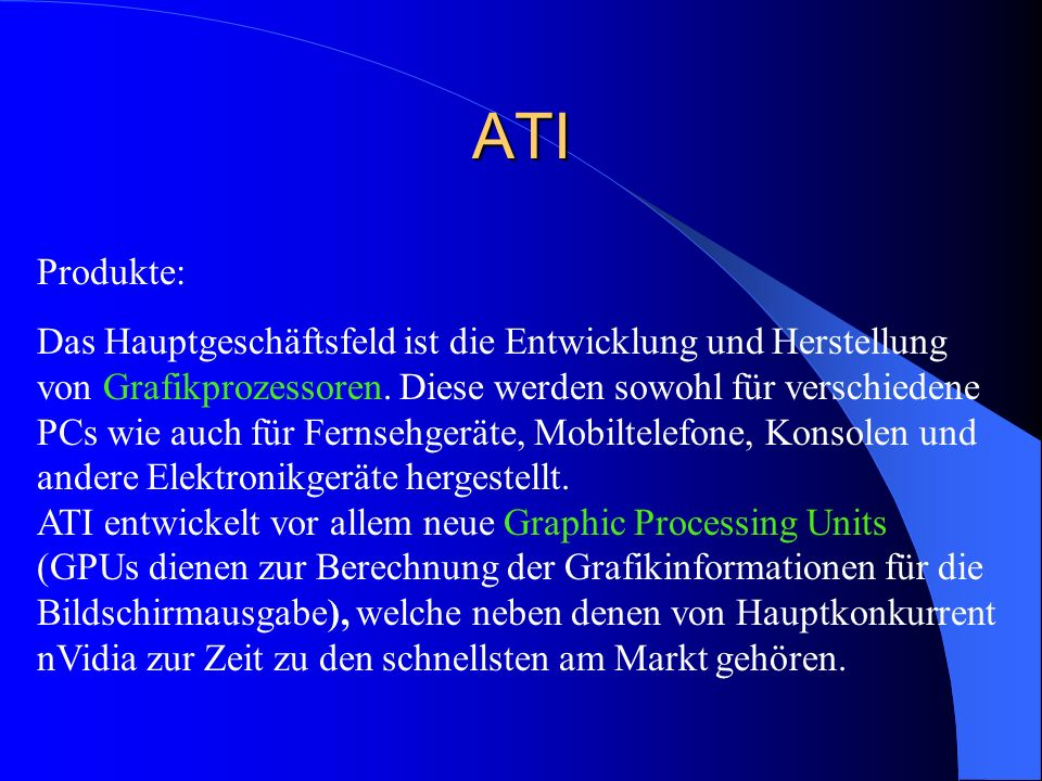 ATI Produkte: