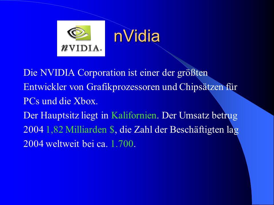 nVidia Die NVIDIA Corporation ist einer der größten