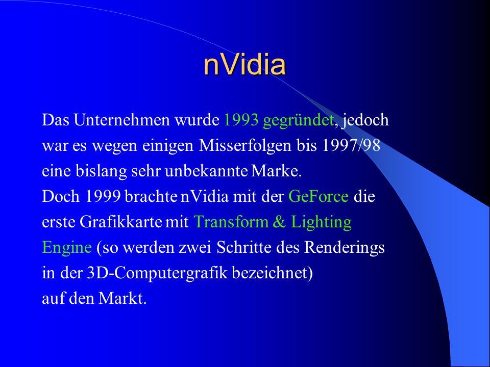 nVidia Das Unternehmen wurde 1993 gegründet, jedoch