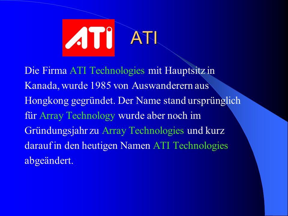 ATI Die Firma ATI Technologies mit Hauptsitz in