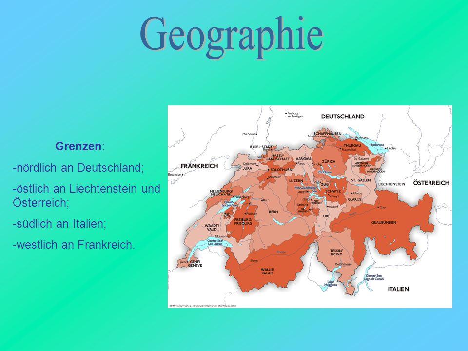 Geographie Grenzen: -nördlich an Deutschland;