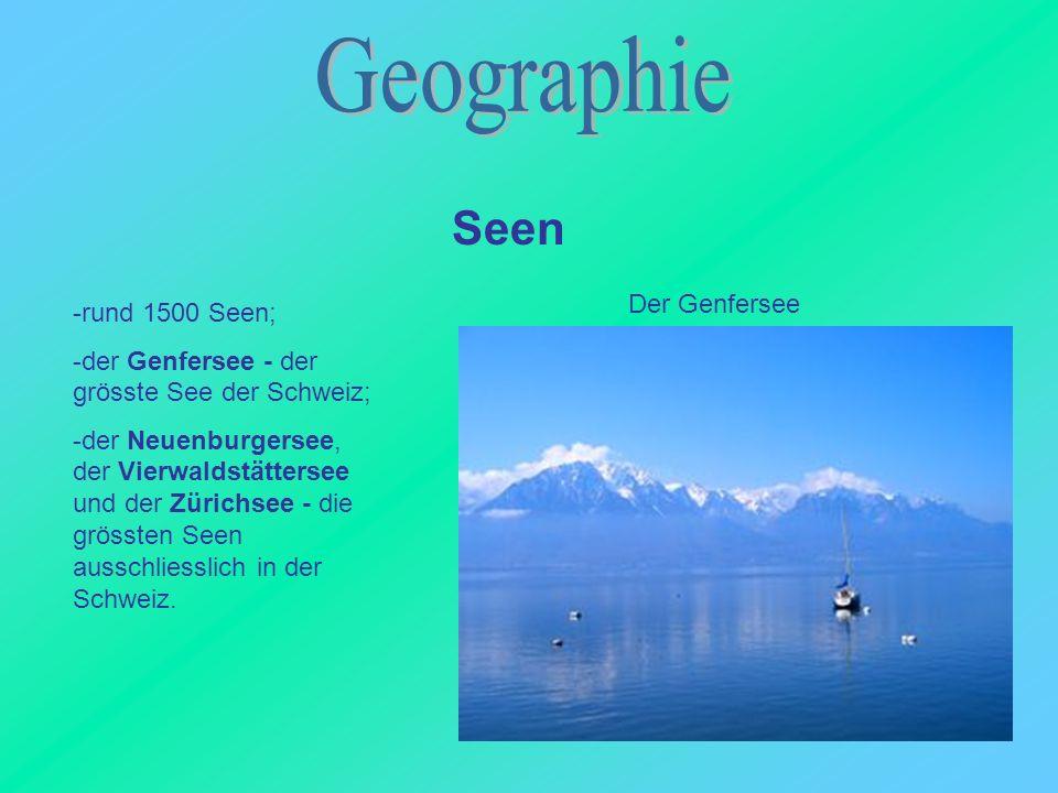 Geographie Seen Der Genfersee -rund 1500 Seen;