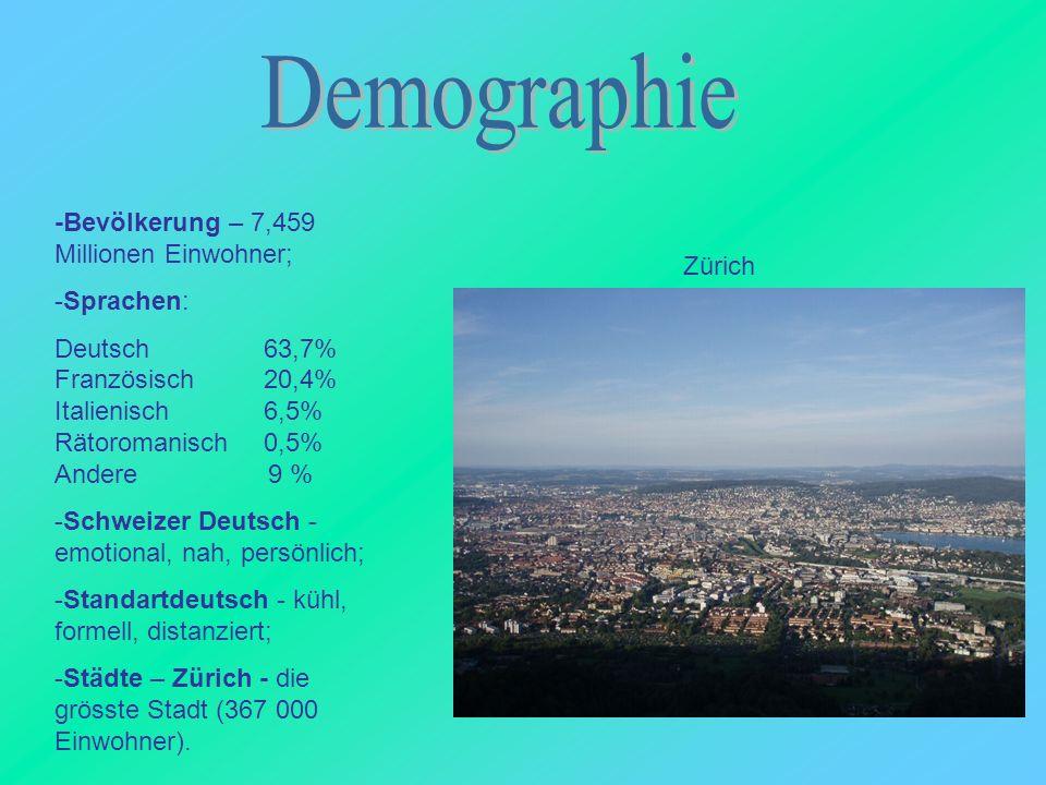 Demographie -Bevölkerung – 7,459 Millionen Einwohner; -Sprachen: