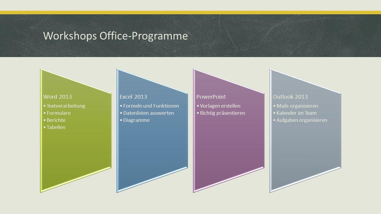 Workshops Office-Programme