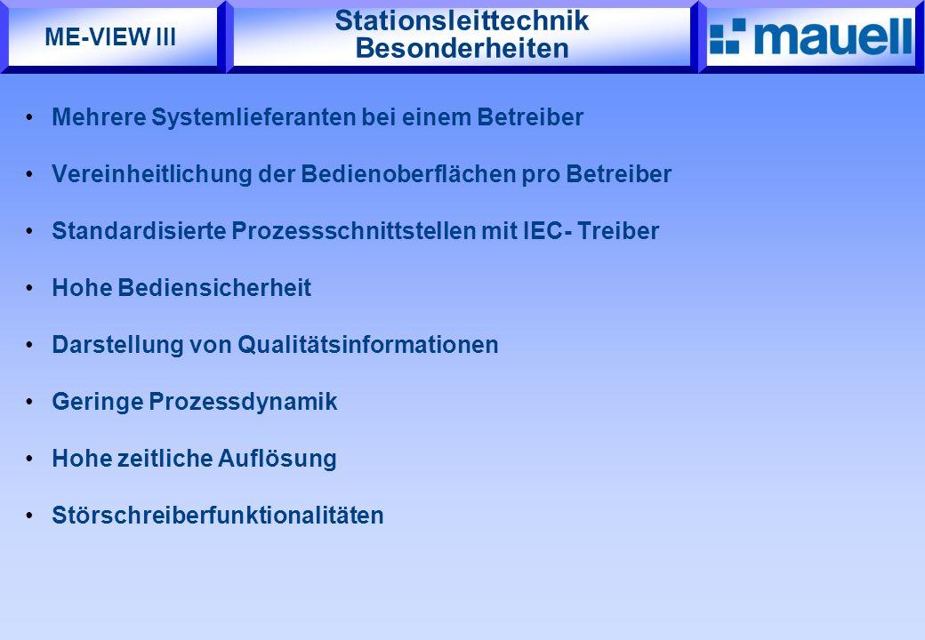 Stationsleittechnik Besonderheiten