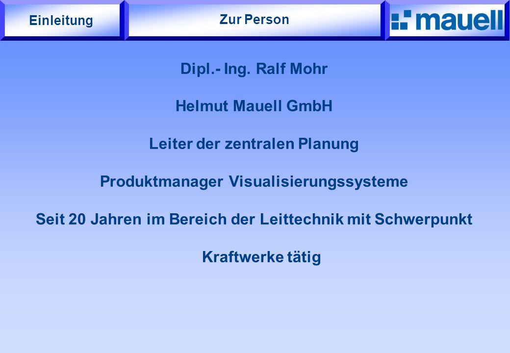 Leiter der zentralen Planung Produktmanager Visualisierungssysteme