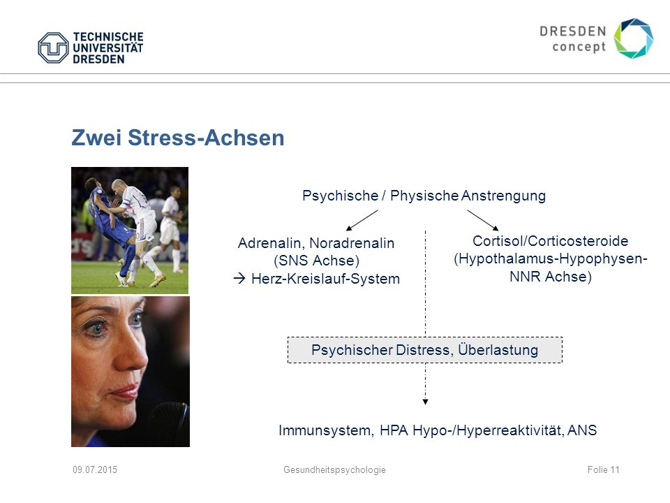 Zwei Stress-Achsen Psychische / Physische Anstrengung