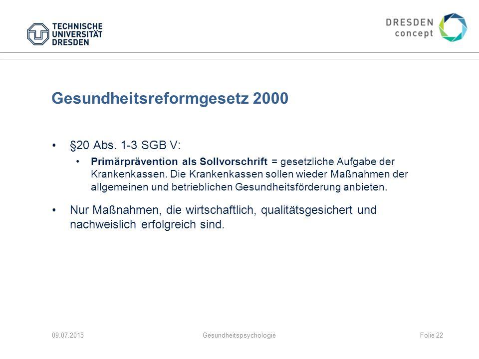 Gesundheitsreformgesetz 2000