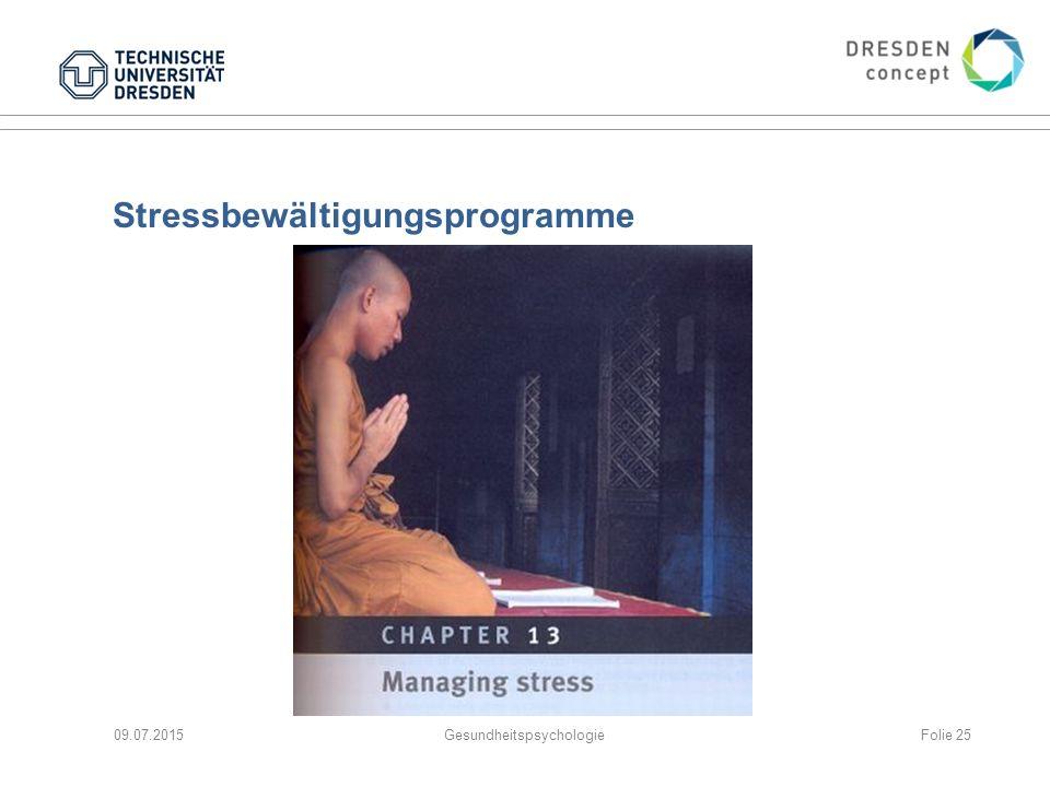 Stressbewältigungsprogramme