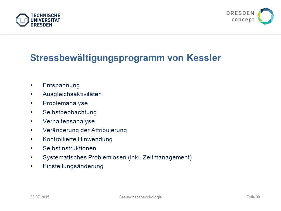 Stressbewältigungsprogramm von Kessler