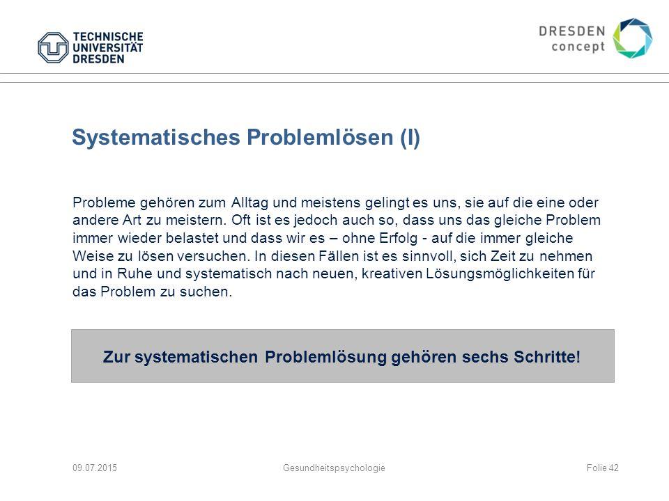 Systematisches Problemlösen (I)