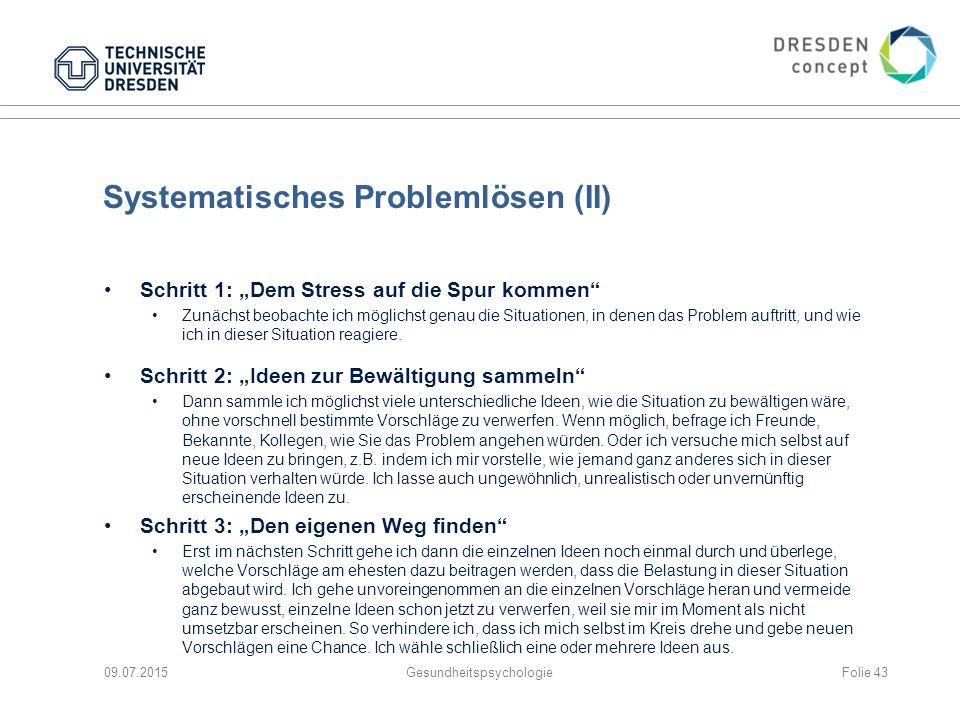 Systematisches Problemlösen (II)