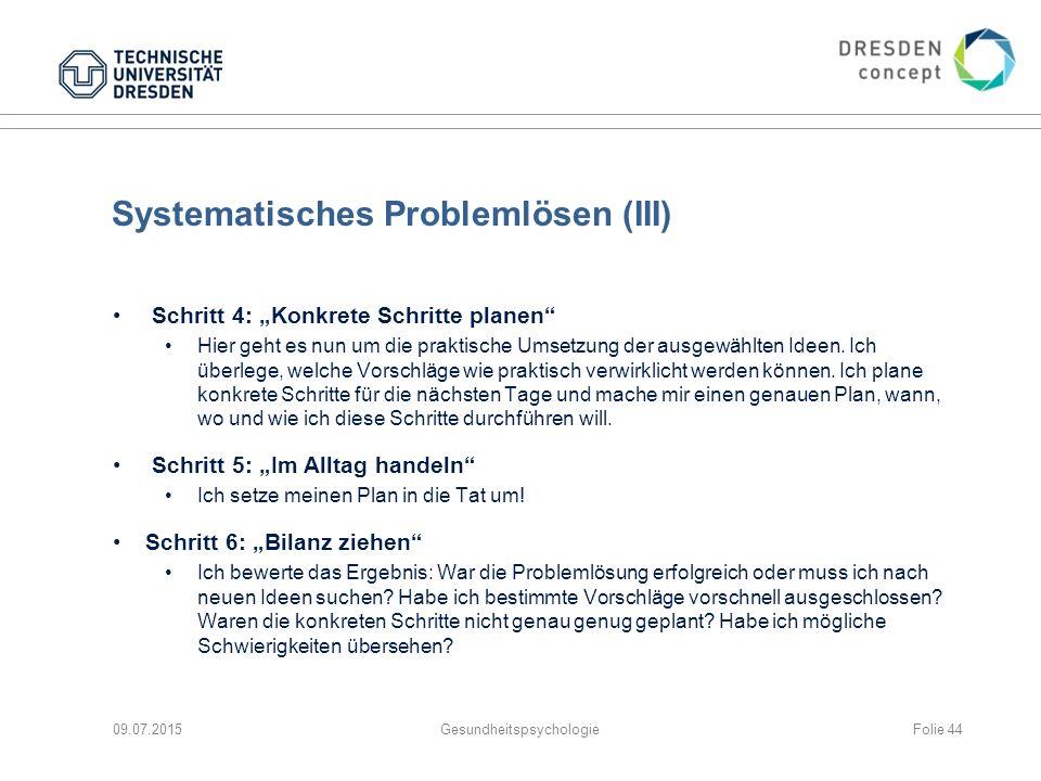 Systematisches Problemlösen (III)