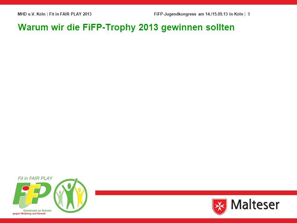 Warum wir die FiFP-Trophy 2013 gewinnen sollten