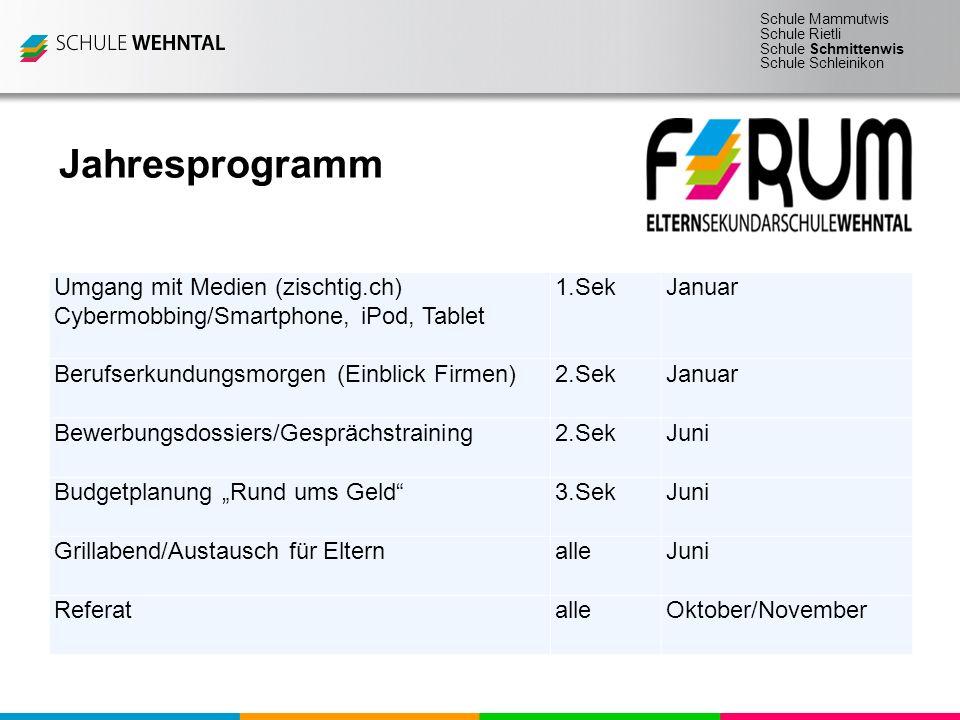 Jahresprogramm Umgang mit Medien (zischtig.ch)