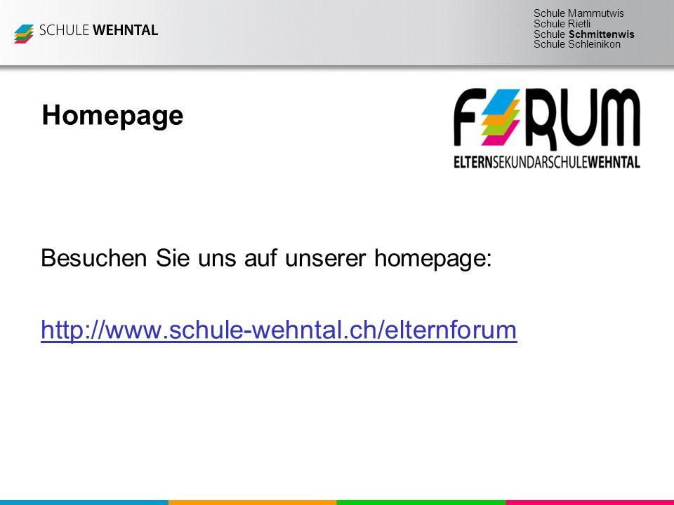 Homepage http://www.schule-wehntal.ch/elternforum