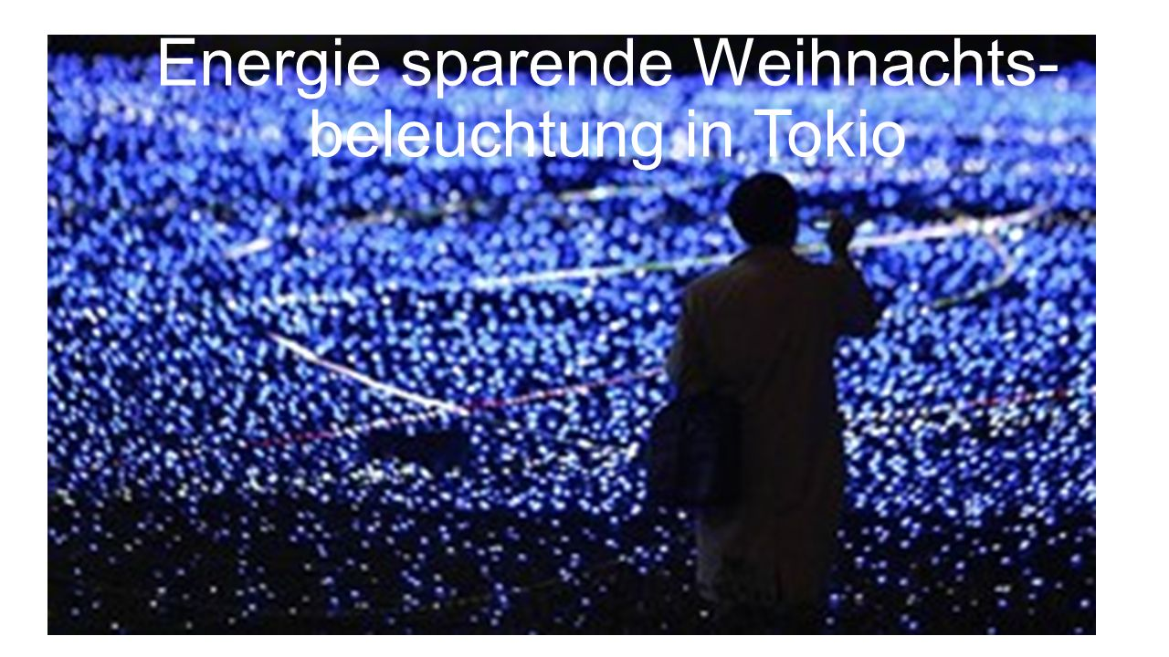 Energie sparende Weihnachts-beleuchtung in Tokio