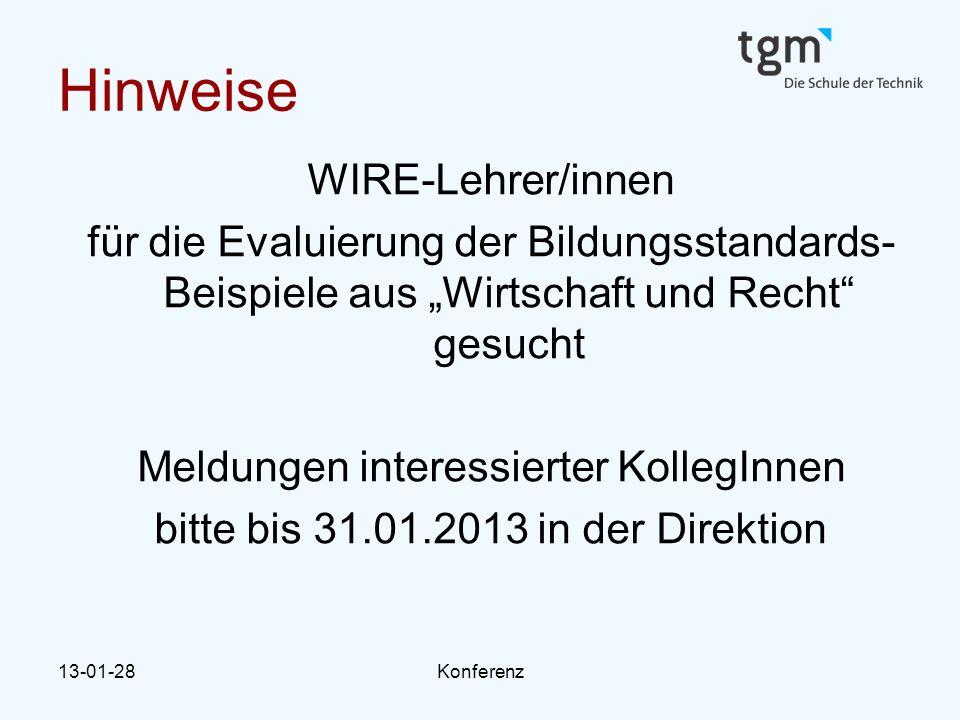 Hinweise WIRE-Lehrer/innen