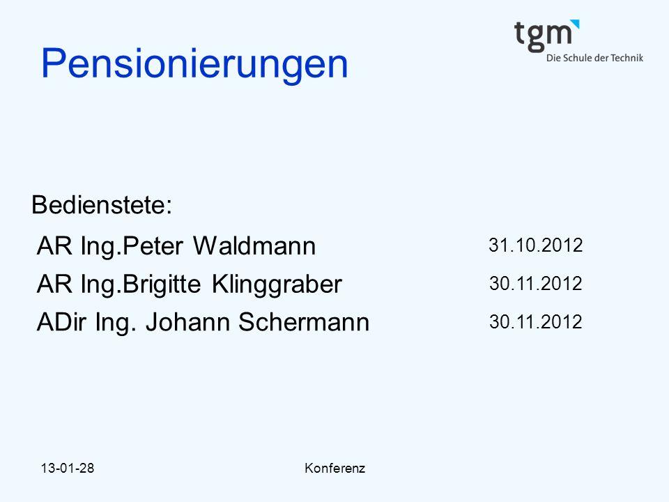 Pensionierungen Bedienstete: AR Ing.Peter Waldmann
