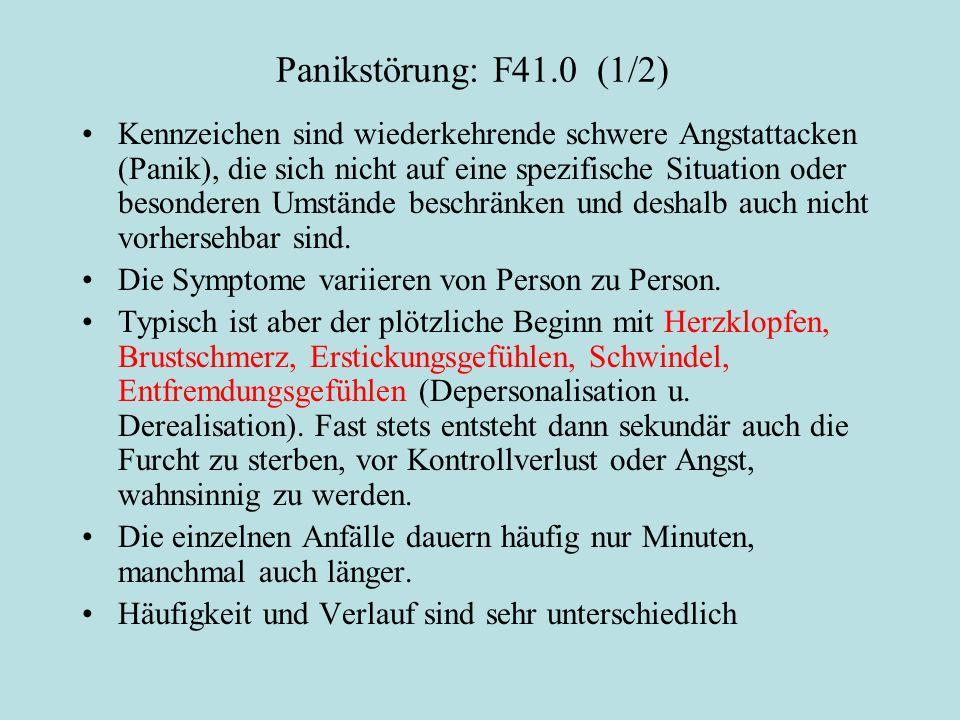 Panikstörung: F41.0 (1/2)