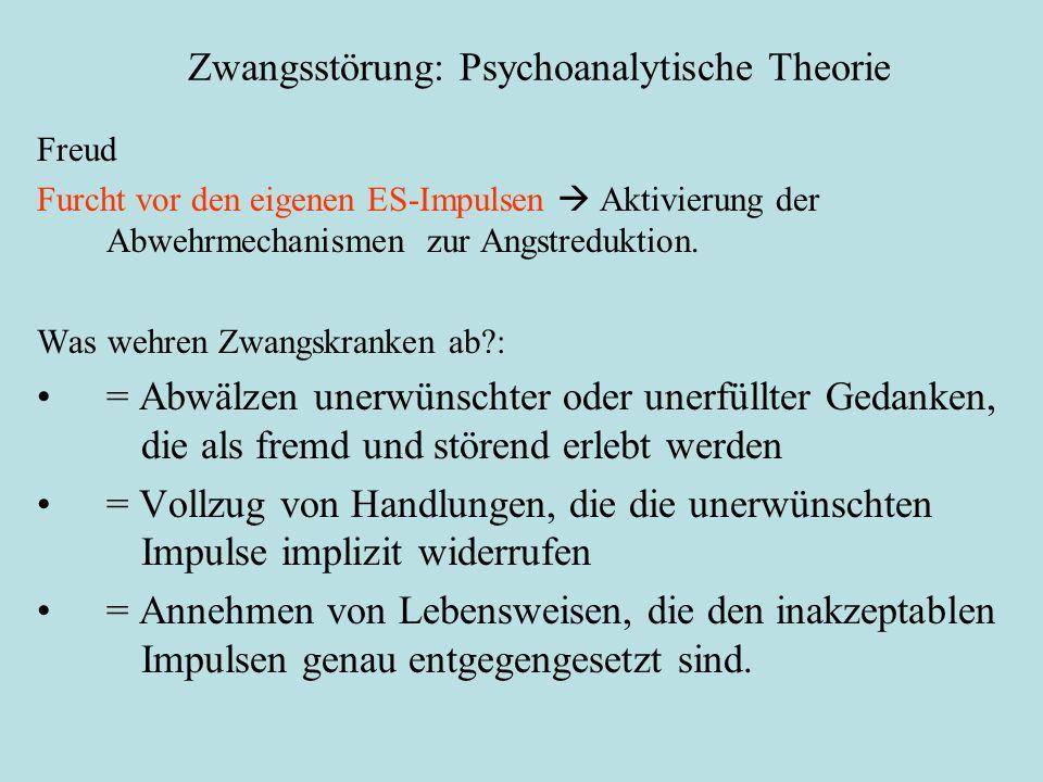 Zwangsstörung: Psychoanalytische Theorie