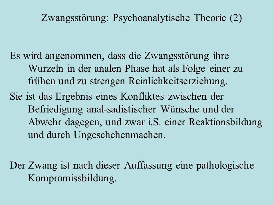 Zwangsstörung: Psychoanalytische Theorie (2)